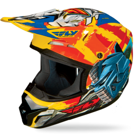 Шлем детский Fly Racing Kinetic Fly-Bot Yellow/Orange/Blue