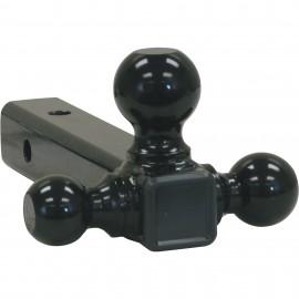 """Насадка фаркопа с 3-мя черными шарами, 1-7/8"""", 2"""" и 2-5/16"""""""