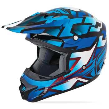 Шлем Fly Racing Kinetic Block Out Blu/Blk