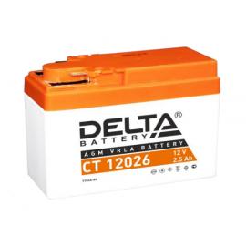 Аккумулятор Delta CT 12026 12V / 2.5Ah YTR4A-BS