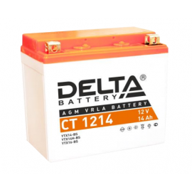 Аккумулятор Delta CT 1214 12V / 14Ah YTX14H-BS, YTX16-BS, YB16B-A,YTX14-BS