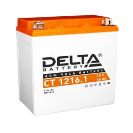 Аккумулятор Delta CT 1216.1 12V / 16Ah YB16B-A, YTX16-BS