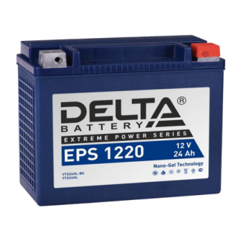Аккумулятор Delta EPS 1220 12V / 24Ah YTX24HL-BS, YTX24HL