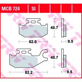 Тормозные колодки TRW MCB724SI